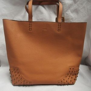 Tod's Brown Leather Gommini Detailed Tote
